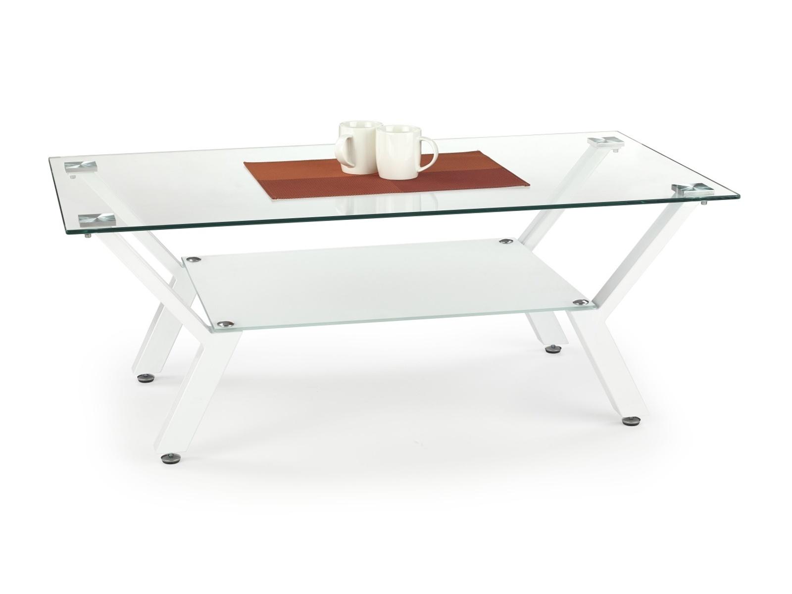 Halmar Konferenční stolek ALPINA, bílá