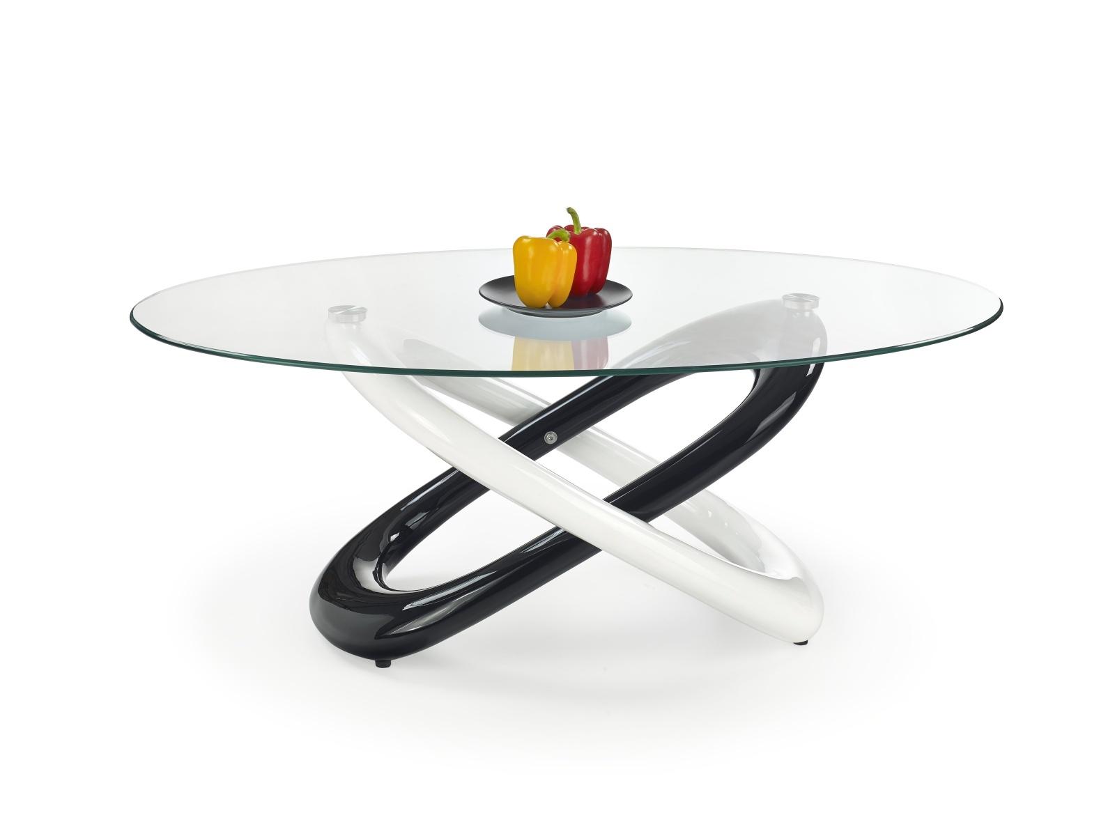 Halmar Konferenční stolek GOBI, bílá/černá