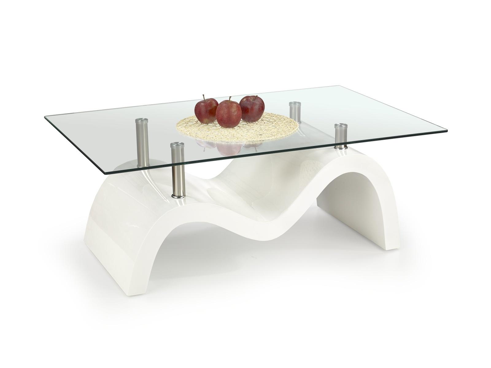Halmar Konferenční stolek MALTA, bílá