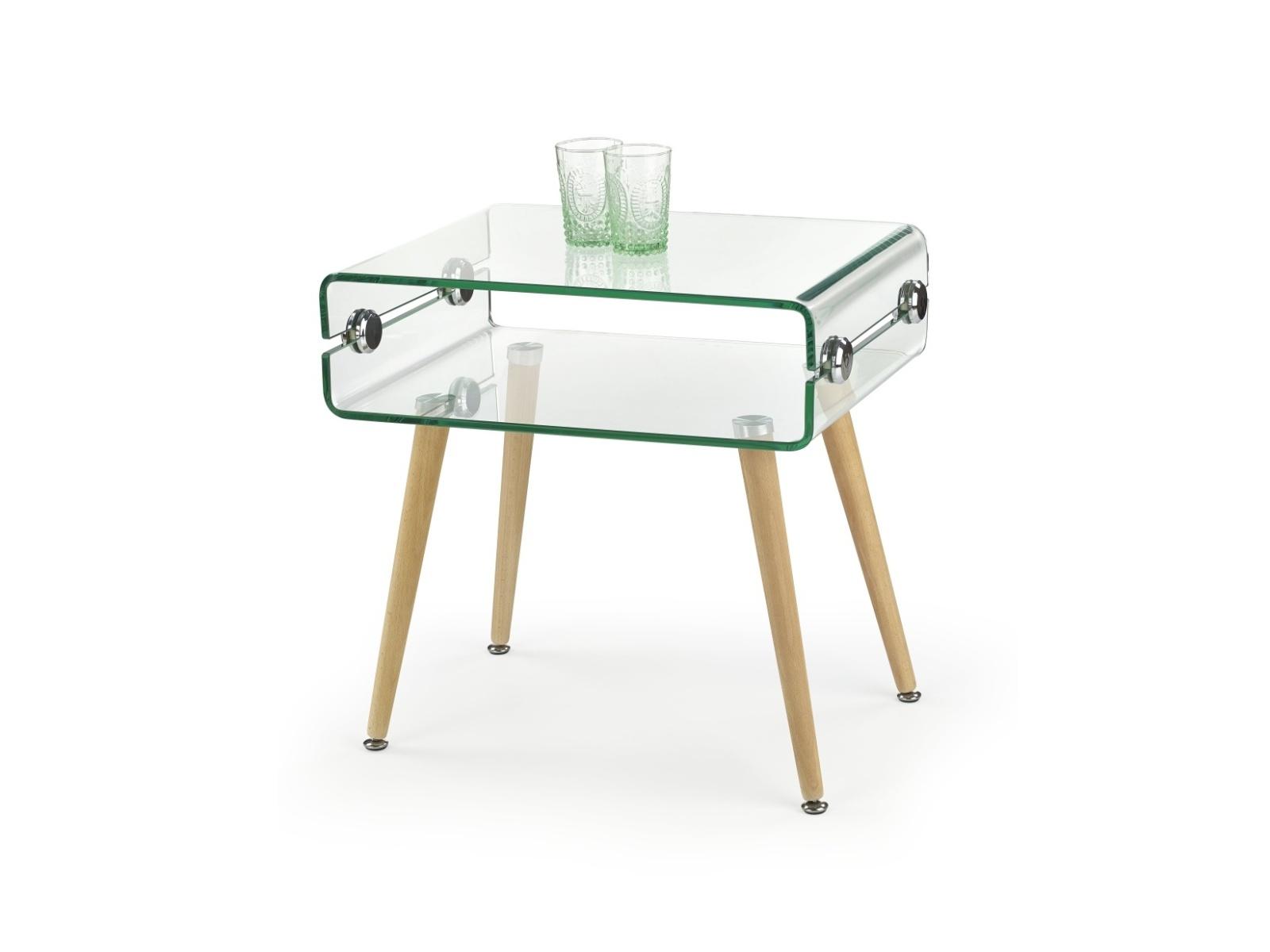 Halmar Konferenční stolek VALENCIA, sklo/masiv
