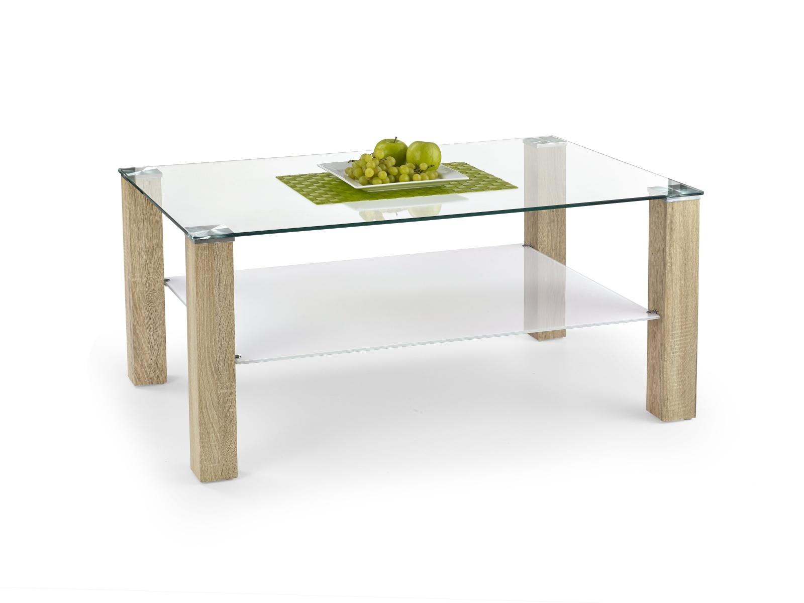 Halmar Konferenční stolek VENTURA, bílá/dub sonoma