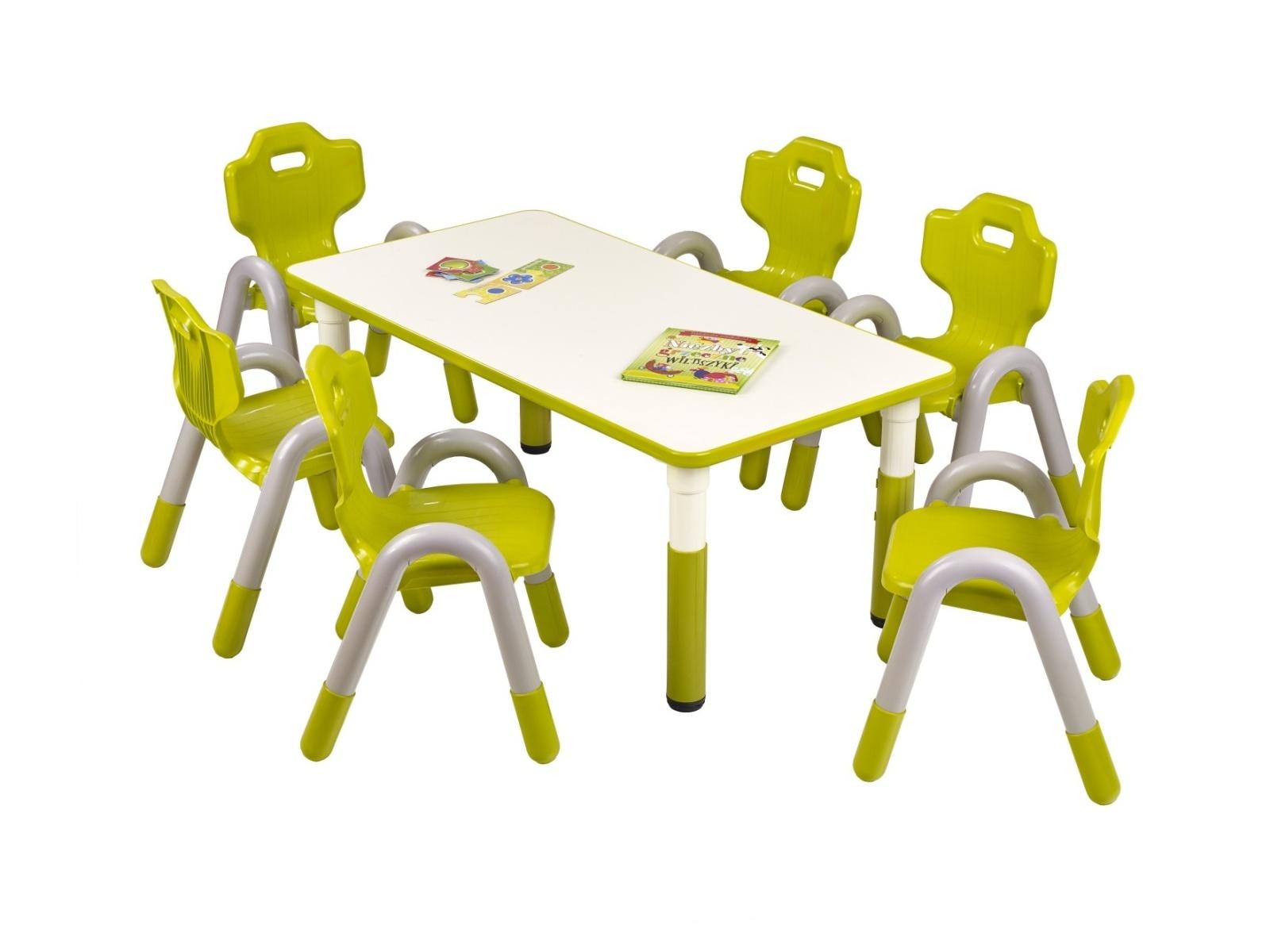Halmar Dětský stůl SIMBA obdélníkový, zelená