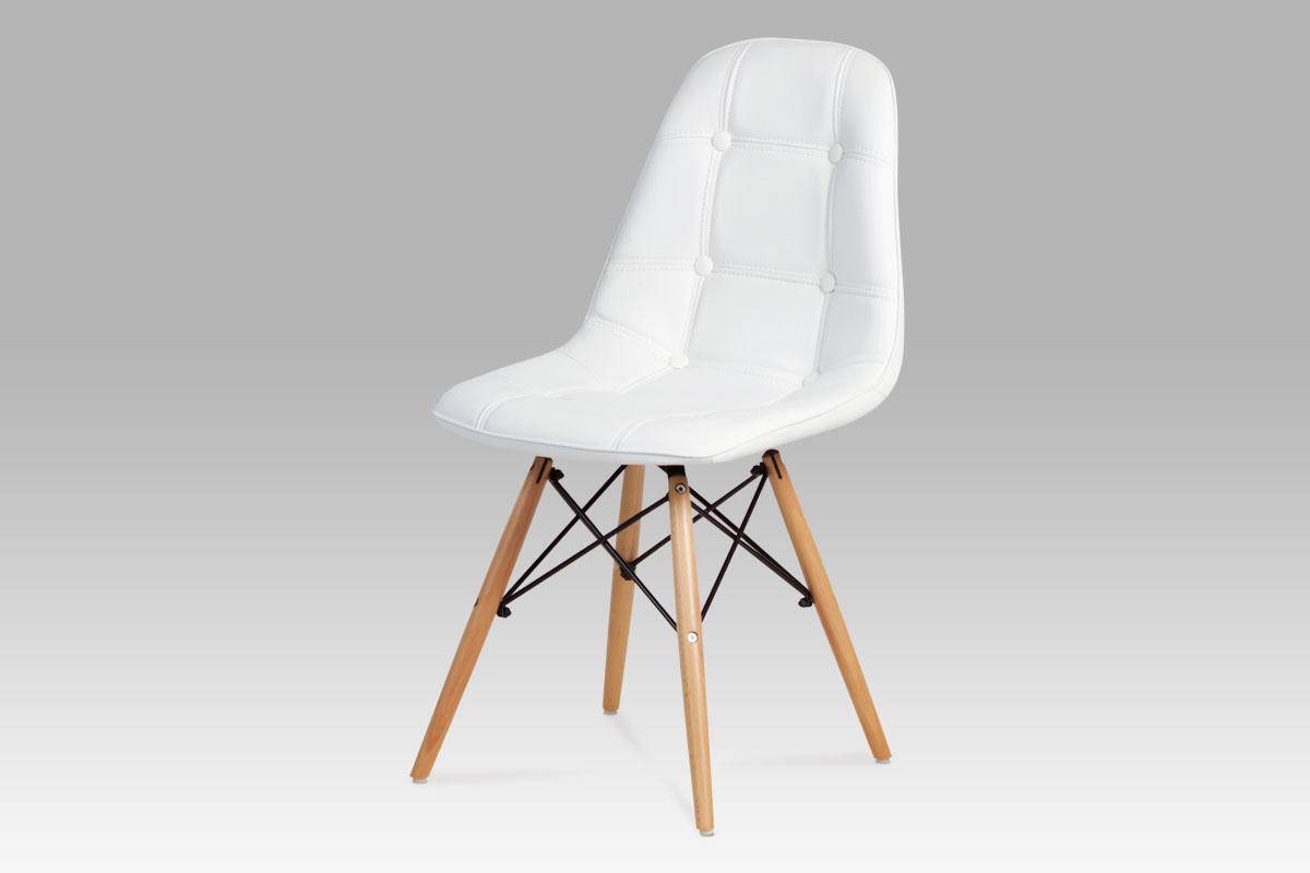 Jídelní židle CT-720 WT1, bílá / natural