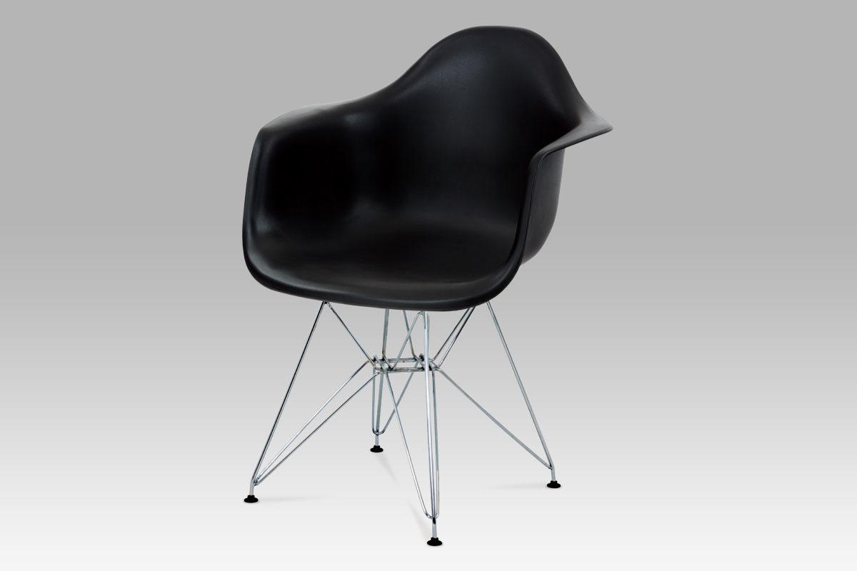 Autronic Jídelní židle CT-712 BK, černá/chrom