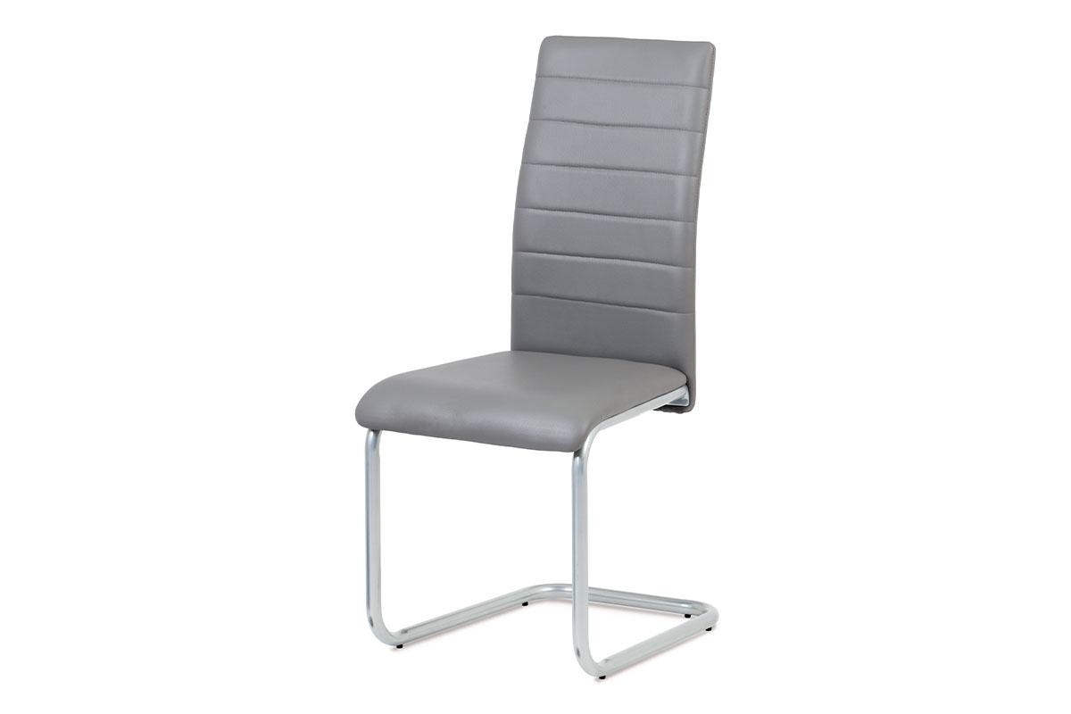 Jídelní židle DCL-102 GREY, šedá/šedý lak