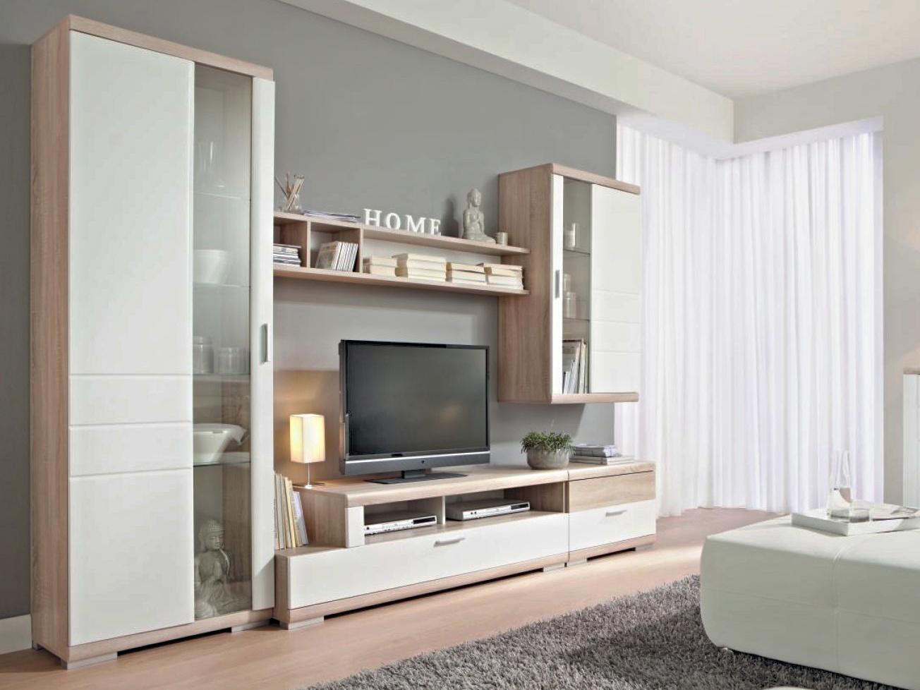 Decodom TOGGO kombi 01 obývací pokoj, dub bardolino/bílá