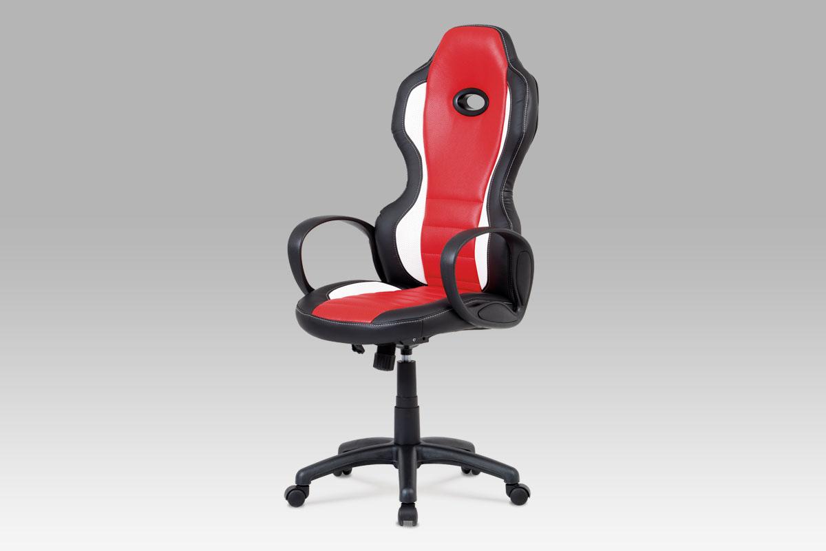 Smartshop Kancelářská židle KA-E910 RED, černá/červená