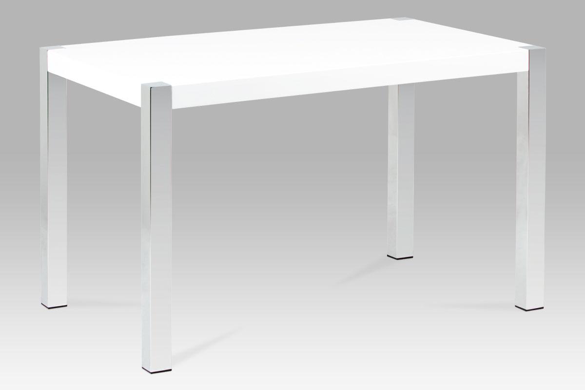 Smartshop Jídelní stůl SAT-2086 WT, lesk bílý/chrom