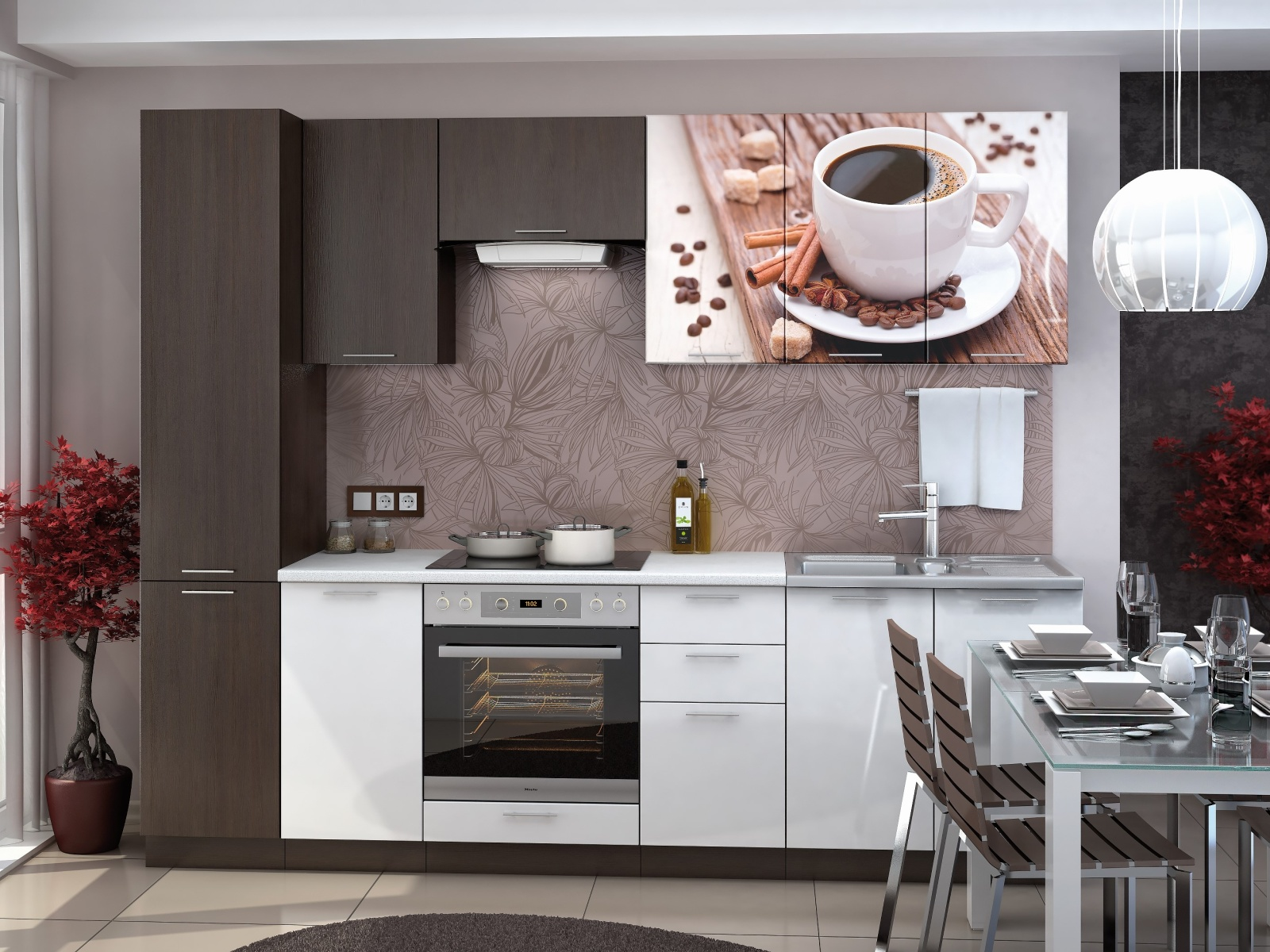 Smartshop Kuchyně ART 220 cm, coffee
