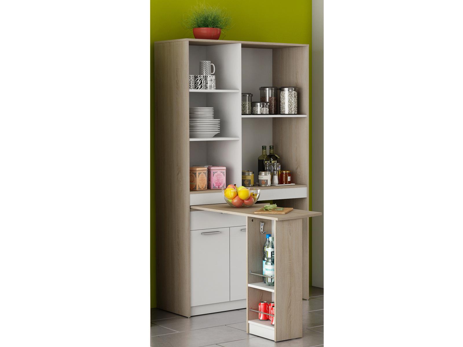 DEMEYERE URBEN kuchyňská skříňka se stolem, dub sonoma/bílá