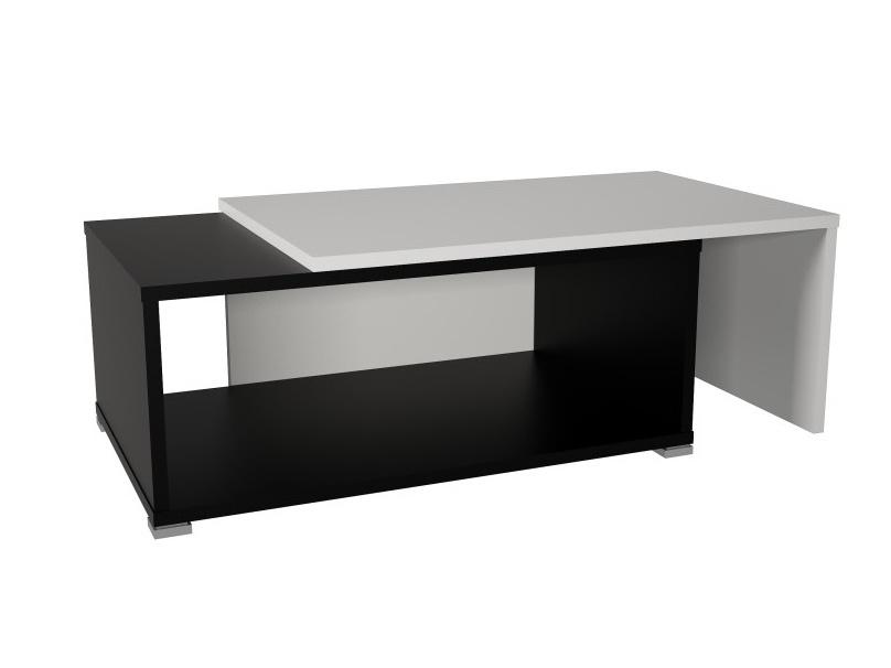 Tempo Kondela DRON konferenční rozkládací stolek, bílá/černá