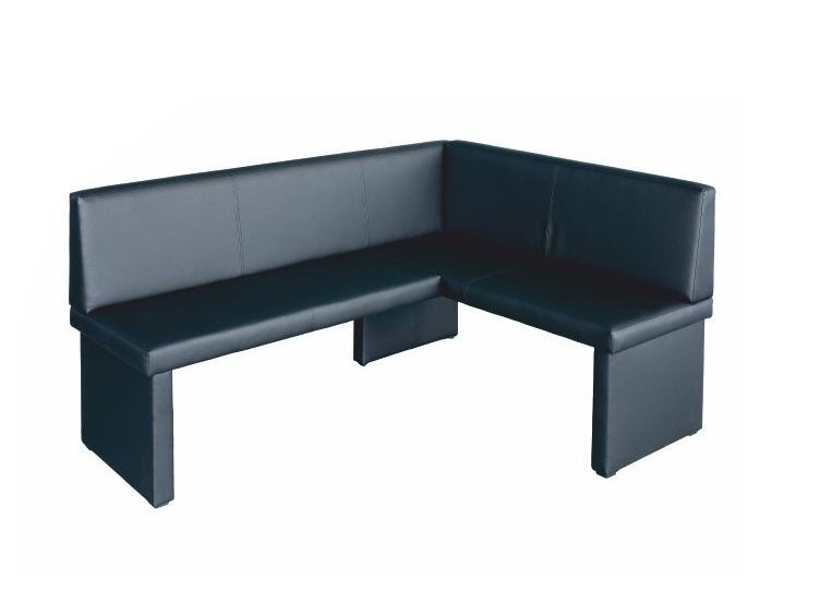 Tempo Kondela MODERN rohová lavice do kuchyně, pravá, černá ekokůže