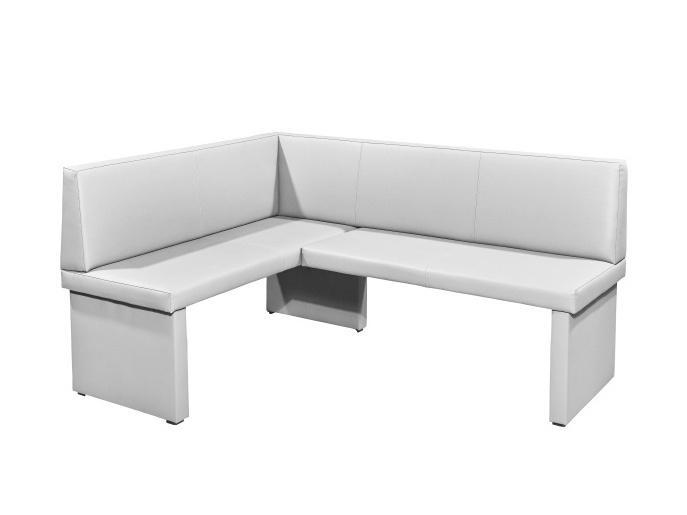 Tempo Kondela MODERN rohová lavice, levá, bílá ekokůže