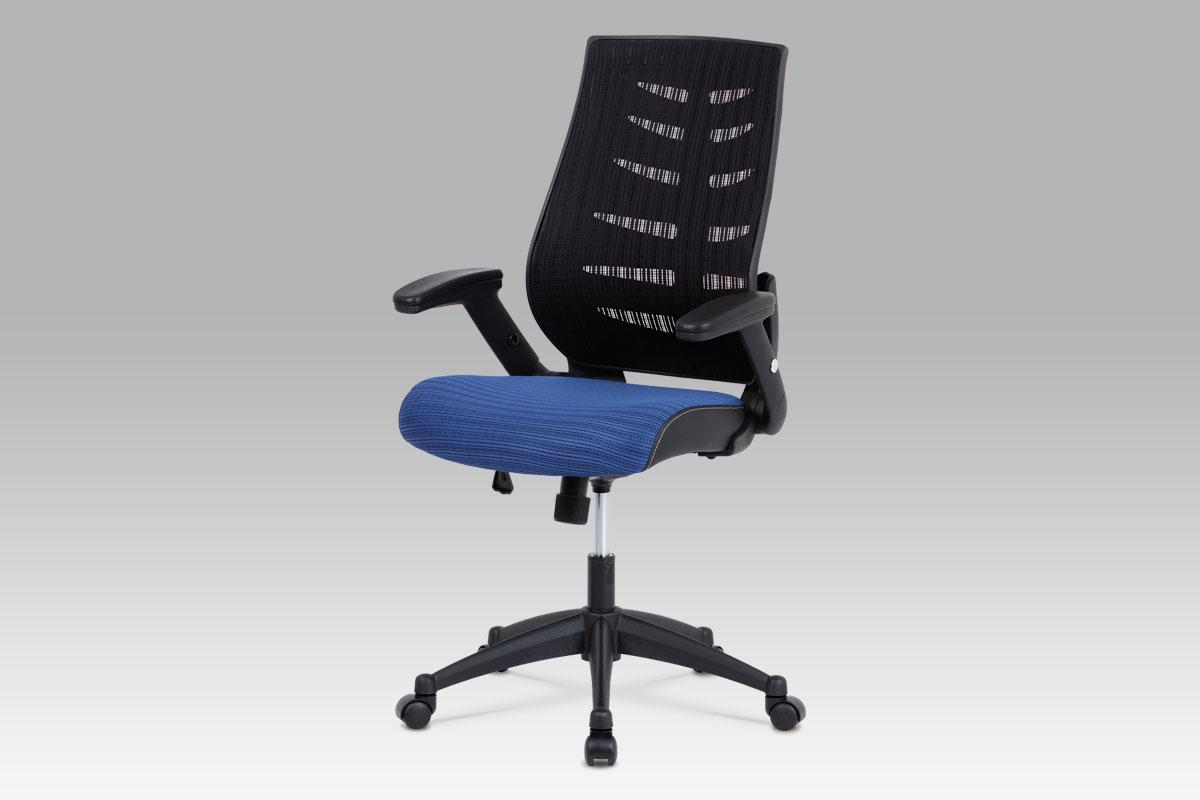 Autronic Kancelářská židle KA-J809 BLUE, látka mesh modrá + černá, houpací mechanismus