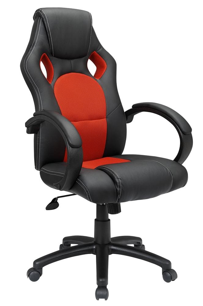 Smartshop Kancelářské křeslo ADK SPYRO, černá + červená ekokůže