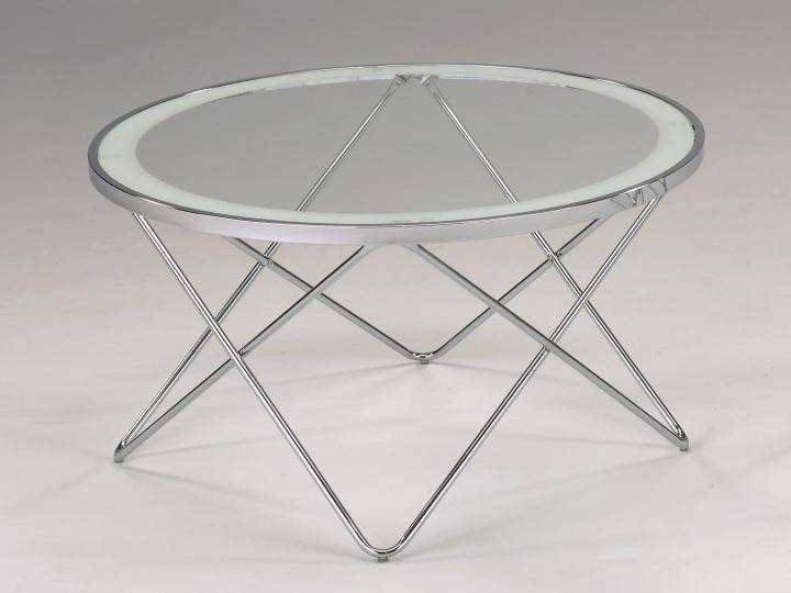 Tempo Kondela LEONEL konferenční stolek, chrom/sklo