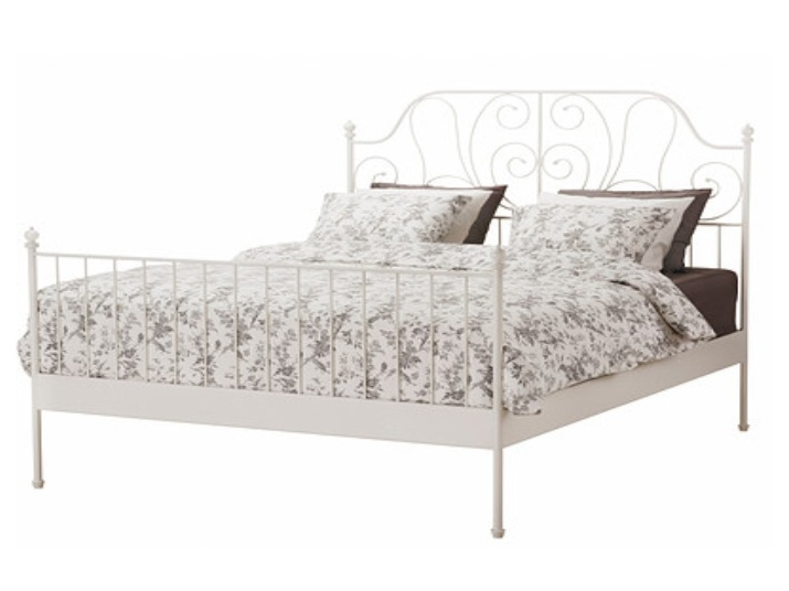 Tempo Kondela BEHEMOTH kovová postel s roštem 140x200 cm, bílá