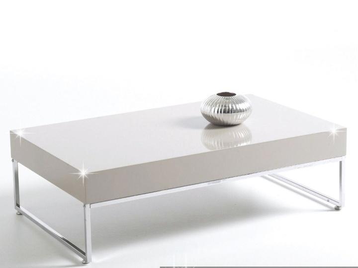 Smartshop LOTTI konferenční stolek, chrom/bílý lesk