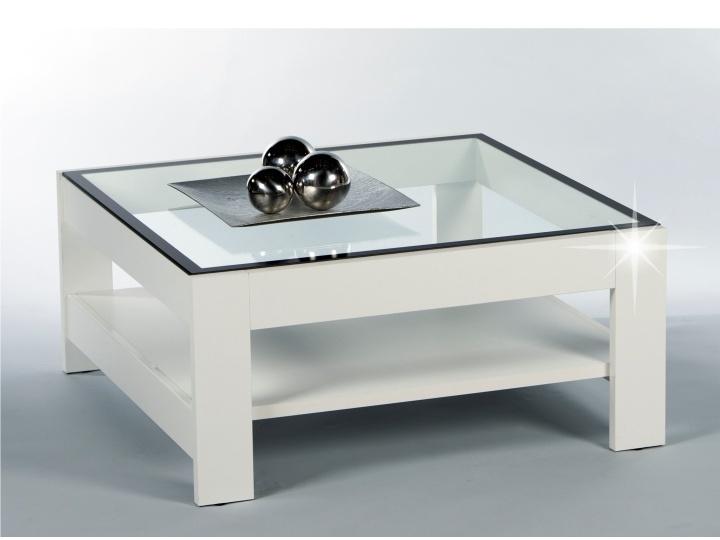Tempo Kondela ATTAC konferenční stolek, bílý lesk/sklo