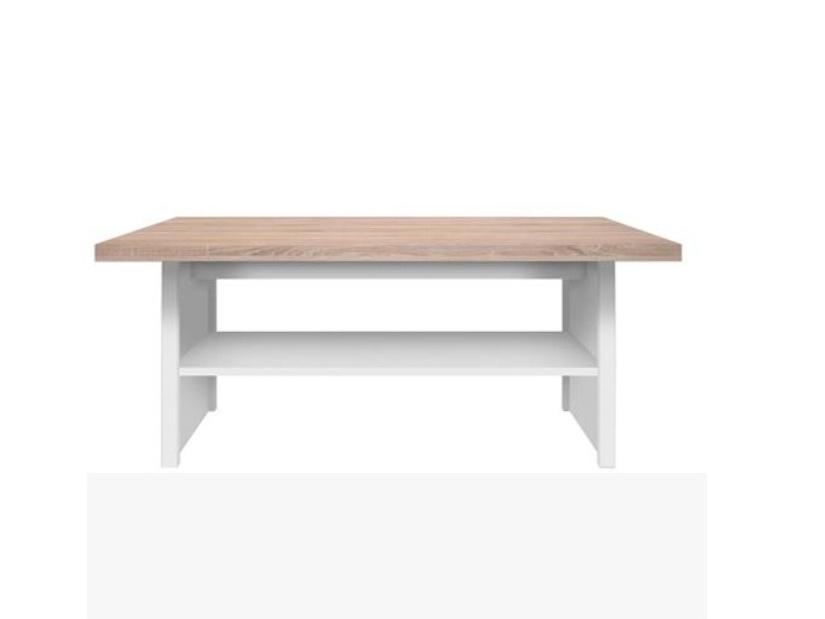 SANGIR konferenční stolek, bílá/dub sonoma