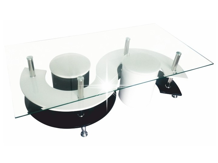 Tempo Kondela RUPERT konferenční stolek, bílá/černá