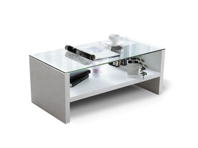 Tempo Kondela TIBER konferenční stolek, bílá/sklo
