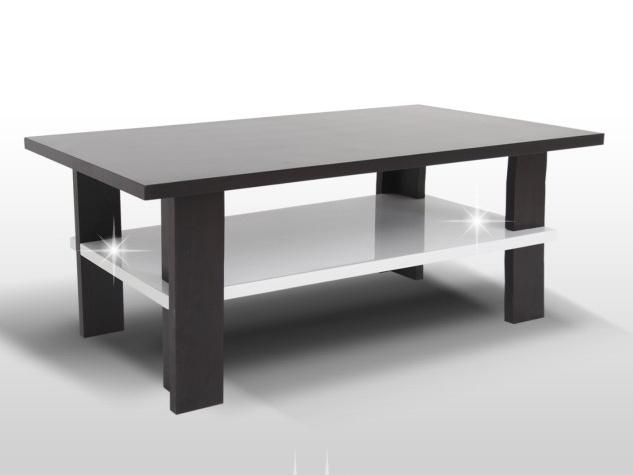 Smartshop ANATOL konferenční stolek, wenge/bílý lesk