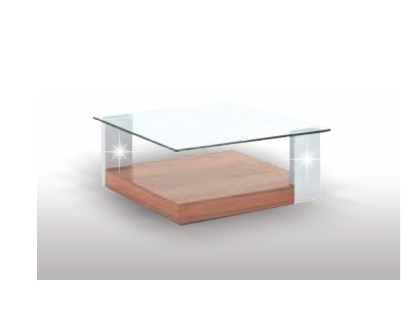 Tempo Kondela EMIL konferenční stolek, švestka/bílá/sklo