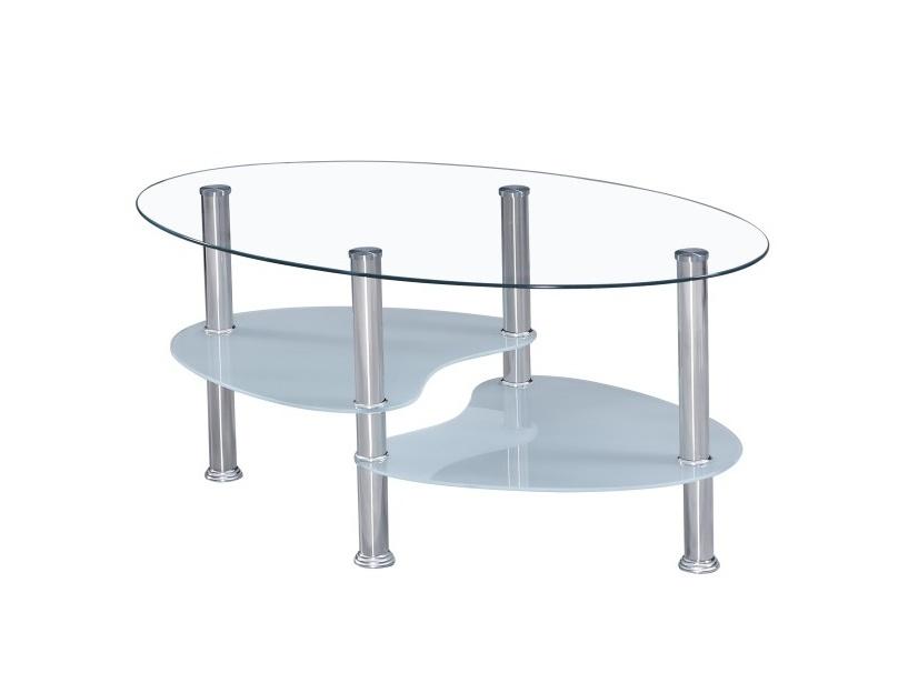 GALID konferenční stolek, ocel/sklo