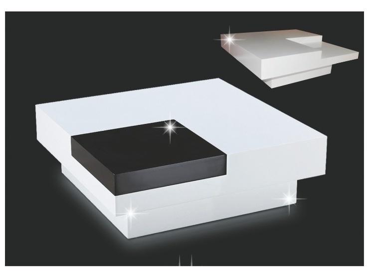 Smartshop ELIOT konferenční stolek, bílý lesk/černý lesk