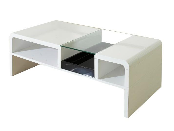 Tempo Kondela SHAPE konferenční stolek, bílá/sklo