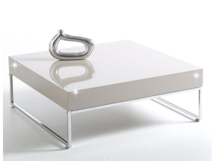 Smartshop BOTTI konferenční stolek, chrom/bílý lesk