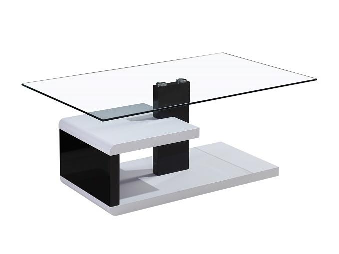 Smartshop LARS konferenční stolek, černý lesk/bílý lesk