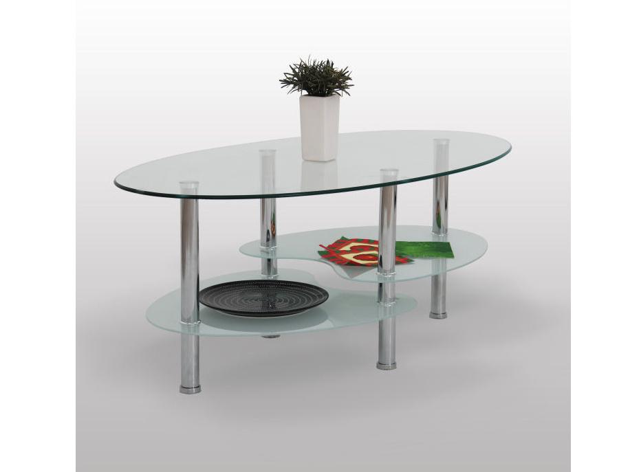 Tempo Kondela SANY konferenční stolek, chrom/sklo