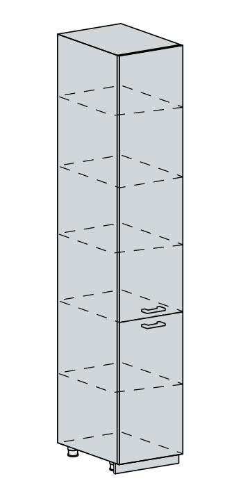 Potravinová skříň VALERIA, wenge/wenge