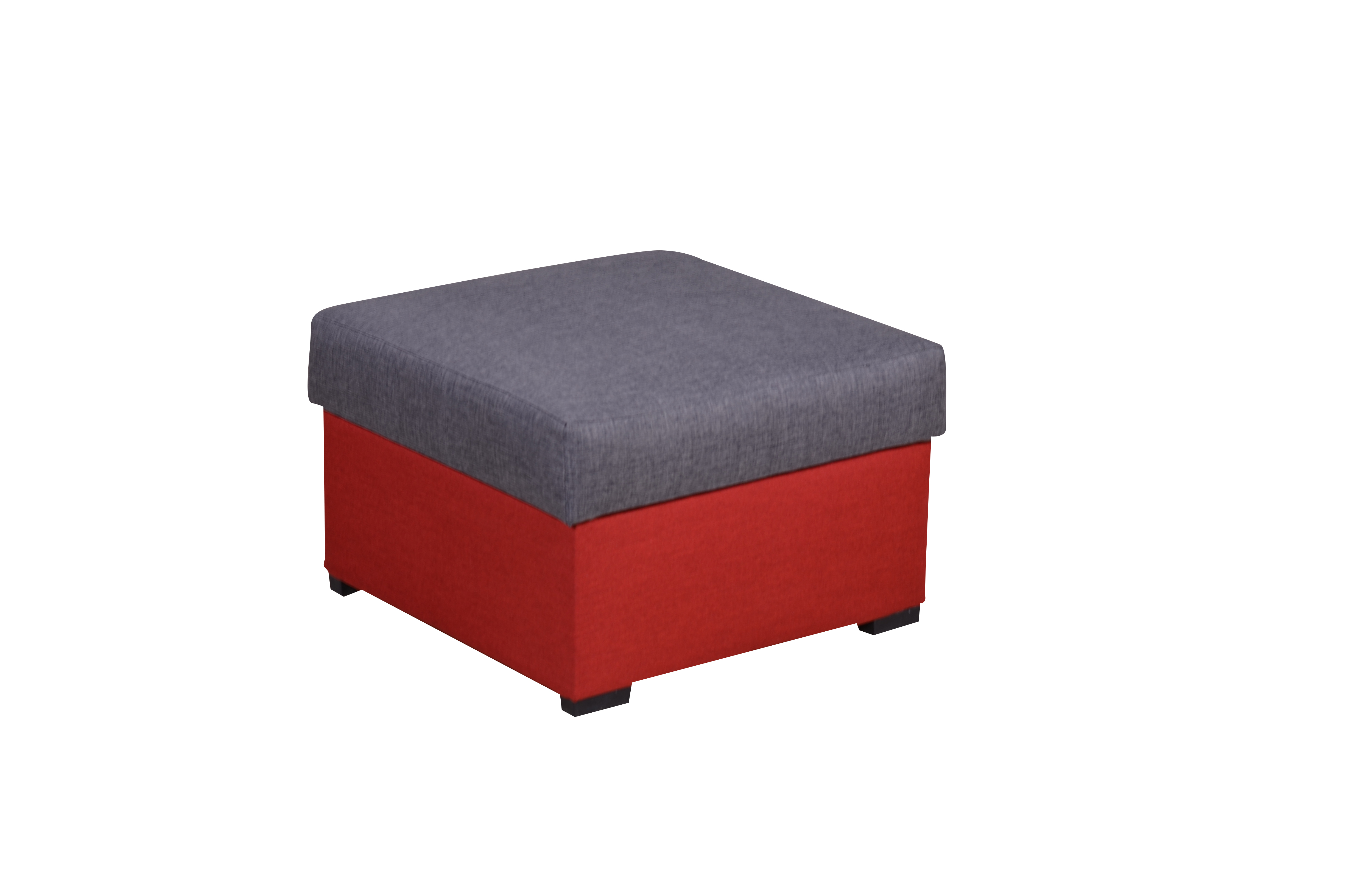 SmartShop Taburet MORY KORNER, šedá/červená, (šxhxv): 60x60x39 cm