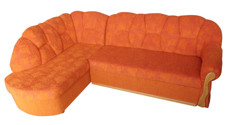 Smartshop Rohová sedačka SANTI, levá, oranžová X-552, olše - DOPRODEJ