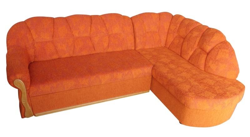 Smartshop Rohová sedačka SANTI, pravá, oranžová X-552, olše - DOPRODEJ