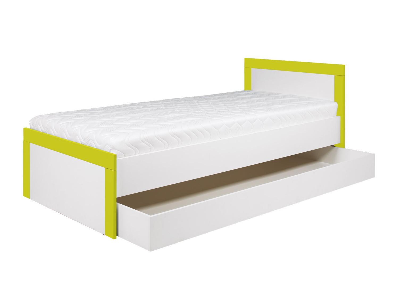 Bog Fran TWIN, postel 90x200 cm TW13 , bílá/akvamarín