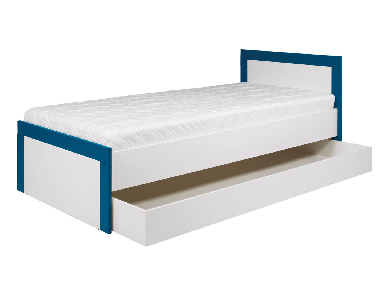 Bog Fran TWIN, postel 90x200 cm TW13, bílá/tyrkysová