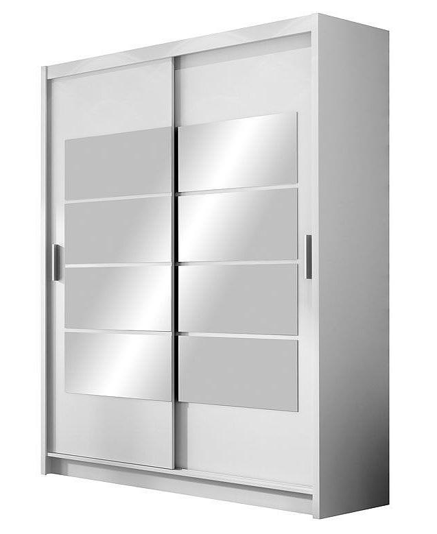 Smartshop Šatní skříň VANCOUVER bílá/zrcadlo