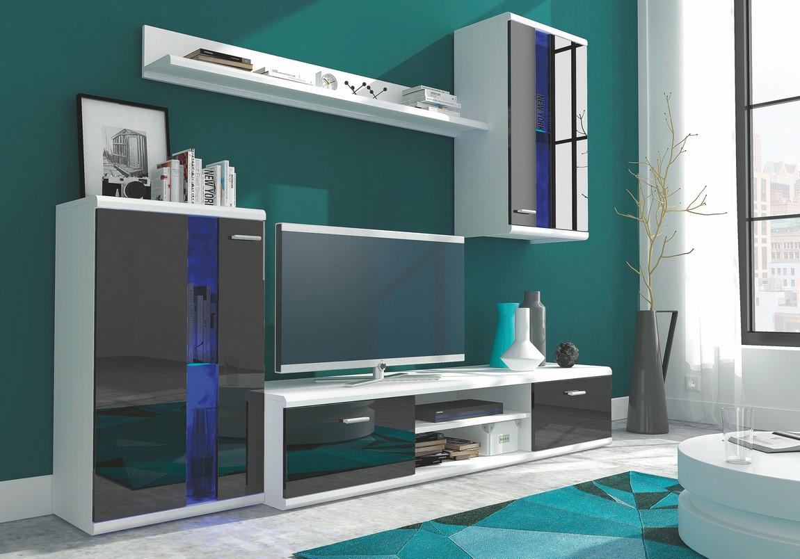Smartshop Obývací stěna LIFE černá/bílá