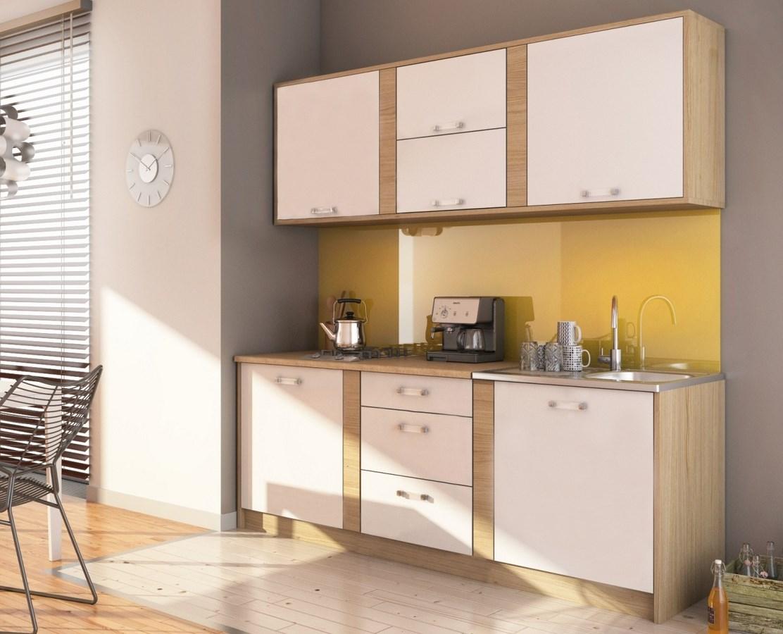 Smartshop Kuchyně IBERIA 220 sonoma/bílá mat