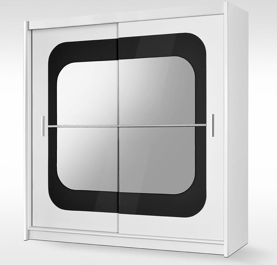 Smartshop Šatní skříň CHELSEA 203 bílá/černá