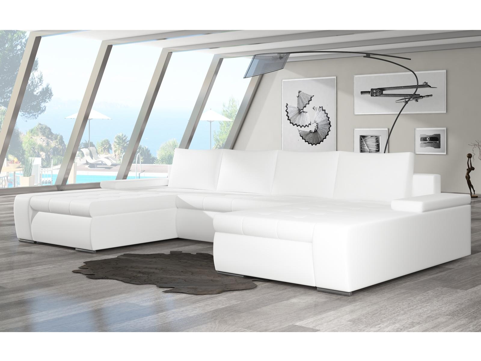 ELTAP Rohová sedačka MARINO 10, bílá ekokůže