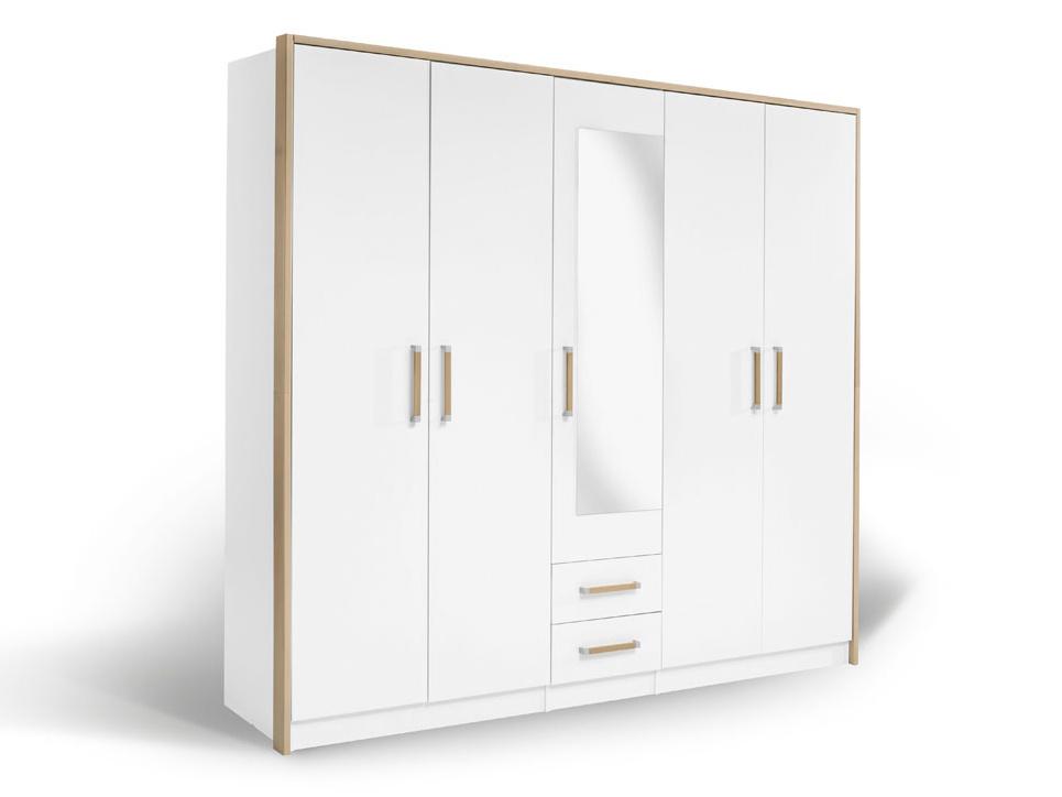 MATIS Šatní skříň VERONA 5KM, bílá/dub bardolino