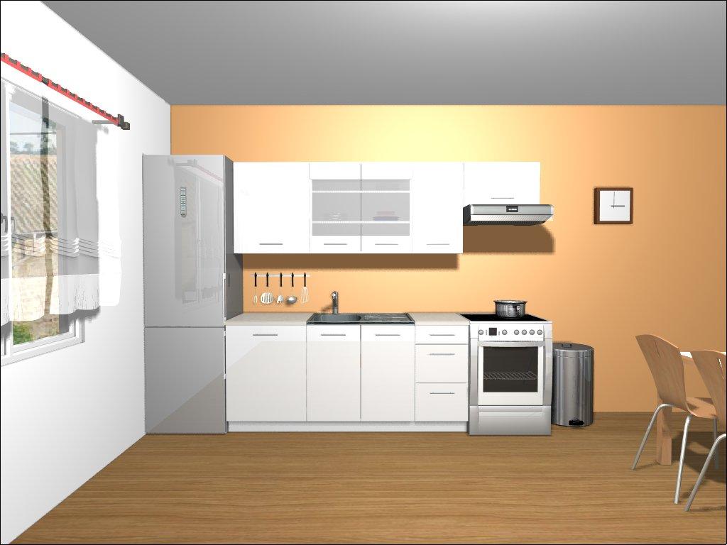 Smartshop Kuchyně TAPO PLUS 180/240 cm, bílá lesk