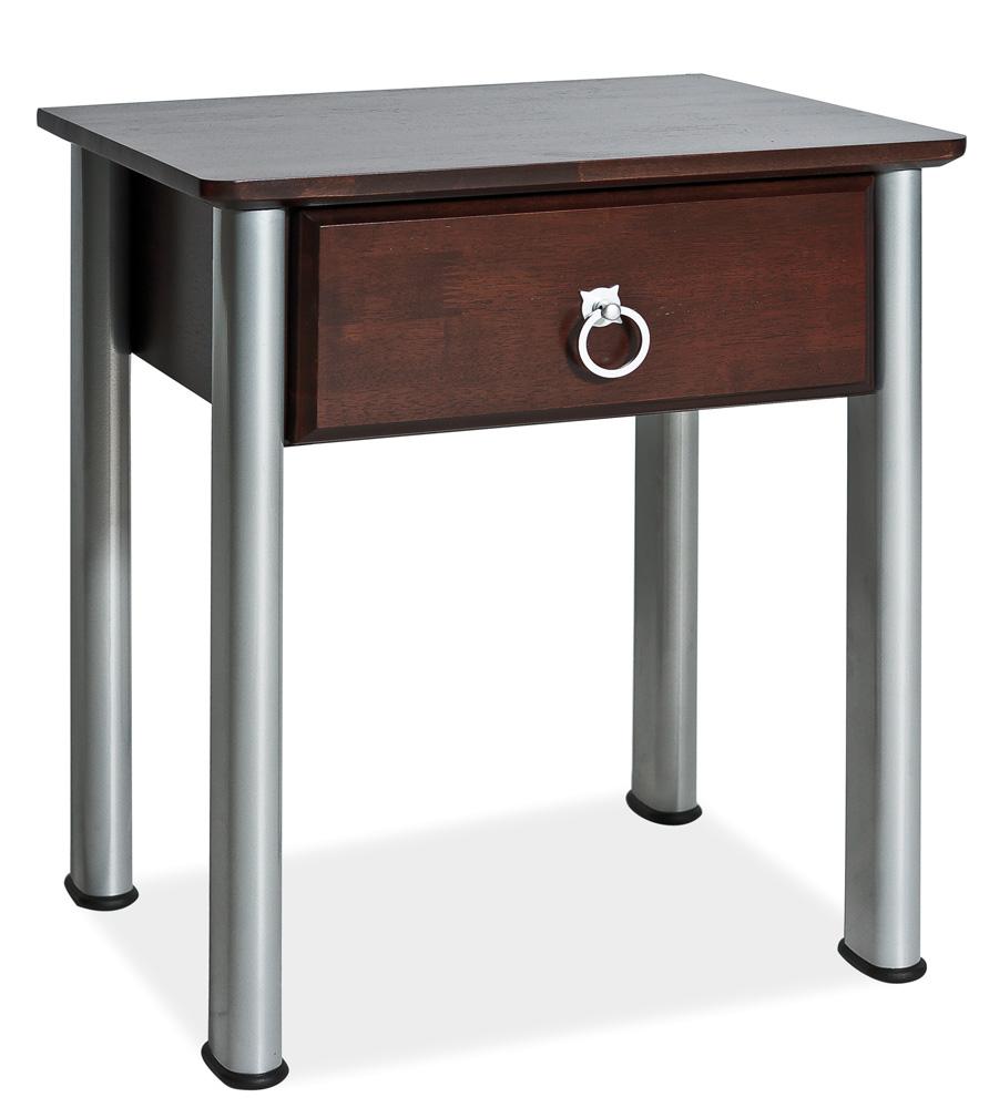 Smartshop Noční stolek MADRYT, wenge/kov