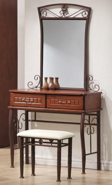 Smartshop Toaletní stolek SOPHIA, antická třešeň/černý kov