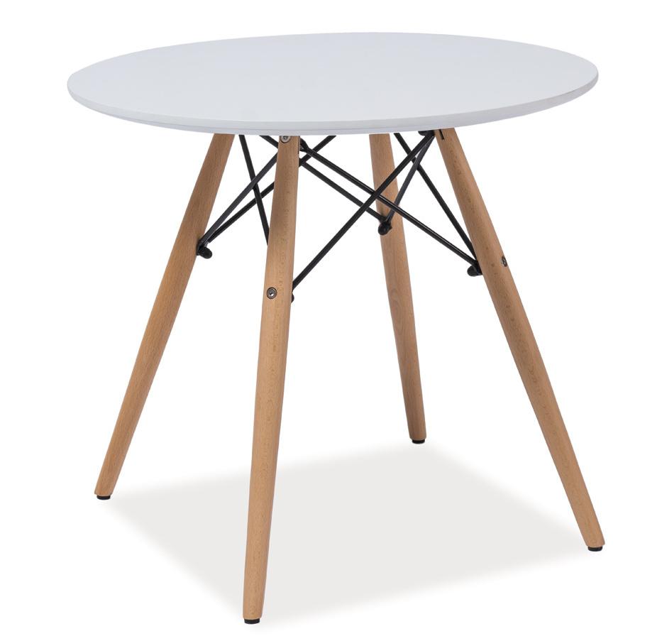 Smartshop Konferenční stolek kulatý SOHO B, bílá/buk